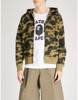 A Bathing Ape Logo-print cotton-jersey hoody
