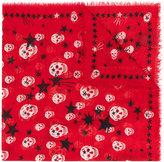 Alexander McQueen skulls and stars scarf