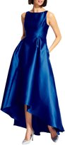 Adrianna Papell Hi-Low Sleeveless Taffeta Gown