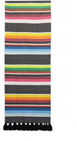 Saint Laurent Men's Striped Tassel Scarf In Multicolour