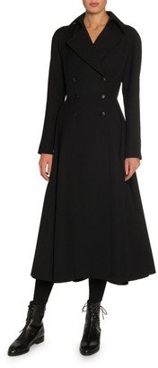 Alaia Double-Breasted Knee Length Coat