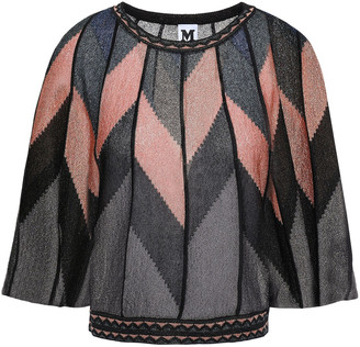 M Missoni Metallic Jacquard-knit Top