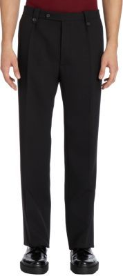 Raf Simons Wide-Leg Stretch-Wool Trousers
