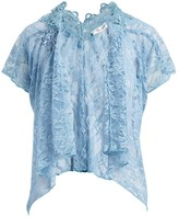 Pretty Angel Women's Boleros LIGHTBLUE(LBL) - Light Blue Lace Silk-Blend Open Cardigan - Women