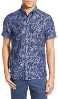 Ted Baker Subzero Modern Slim Fit Floral Short Sleeve Sport Shirt