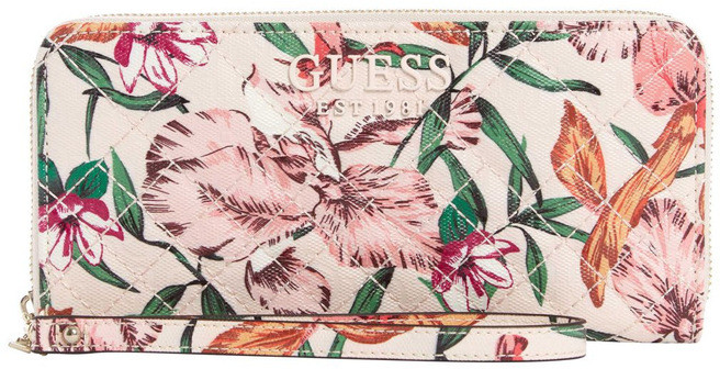 GUESS SF766646FLR Queenie Zip Around Wallet