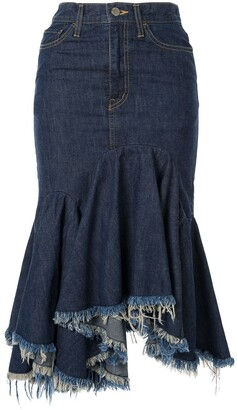 Facetasm Cut-Off Denim Skirt