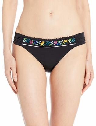 Nanette Lepore Women's Side Shirred Hipster Bikini Swimsuit Bottom