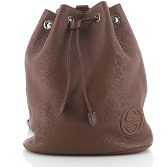 Gucci Soho Drawstring Backpack Leather Small