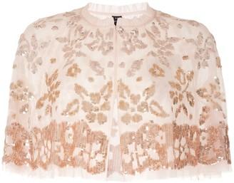 Needle & Thread Sequinned Bolero Jacket