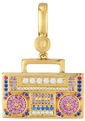Judith Leiber 14K Goldplated Sterling Silver & Cubic Zirconia Boom Box Charm