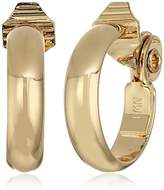 Anne Klein Gold Tone Large Hoop Clipped Earrings