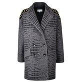 Patrizia Pepe Jacquard Wool Crocodile Coat