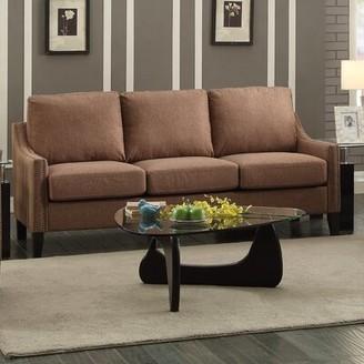 "Winston Porter Pine Lake 68"" Linen Recessed Arm Sofa"