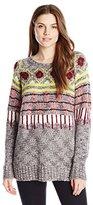 Kensie Women's Novelty Fuzzy Yarn Sweater
