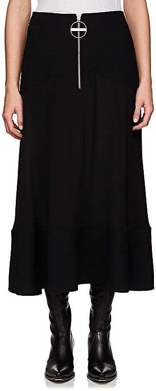 Givenchy Women's Basket-Weave & Crepe Silk Midi-Skirt