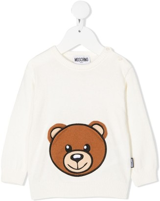 MOSCHINO BAMBINO Long Sleeve Teddy-Print Jumper