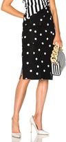 Monse Polka Dot Skirt in Black,Geometric Print.