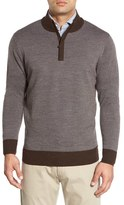 Peter Millar Men's Quarter Zip Merino Wool Sweater
