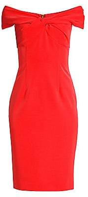 Trina Turk Women's Modernism Imperative Off-The-Shoulder Sheath Dress