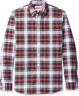 Goodthreads Standard-fit Long-sleeve Plaid Oxford Casual Shirt