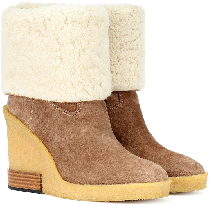 a4945c5cf9b Suede wedge ankle boots