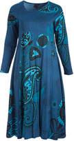 Aller Simplement Dark Blue Floral Midi Dress - Plus Too