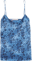 Stella McCartney Ellie Leaping Leopard-print Stretch-silk Satin Camisole - Blue