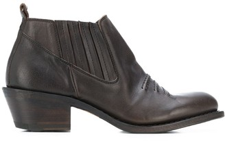 Fiorentini+Baker Stitched-Detail Ankle Boots