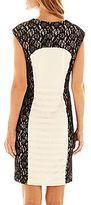 JCPenney Scarlett Shutter-Pleat Lace Dress
