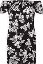 Dorothy Perkins Black And White Floral Print Tunic