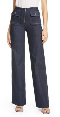 Cinq à Sept Azure Wide Leg Jeans
