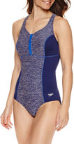 Speedo Texture Touchback One Piece Swimsuit
