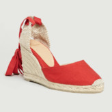 Castaner Red Cotton and Leather Carina Espadrille Sandal - cotton/leather | red | 35 - Red/Red