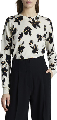 Proenza Schouler Flower-Print Merino Sweater