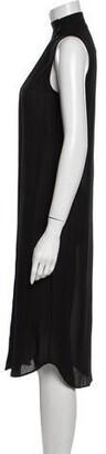 Alexander Wang Silk Midi Length Dress Black