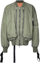 Unravel Project multiple zips bomber jacket