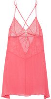 Heidi Klum Intimates Valerie Silk-Chiffon And Lace Chemise