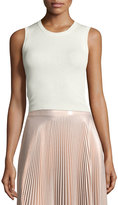 A.L.C. Herrick Sleeveless Silk Top, White