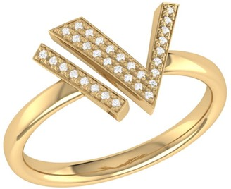 Lmj Visionary Ring In 14 Kt Yellow Gold Vermeil On Sterling Silver