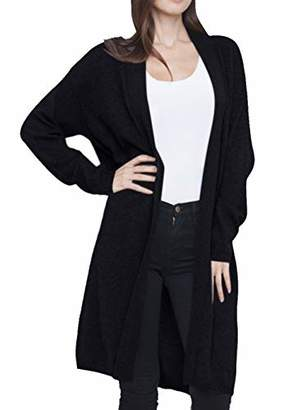 Cashmeren Long Profile Open Front Cardigan 100% Cashmere Oversized Long Profile Sleeve Sweater Coat for Women (