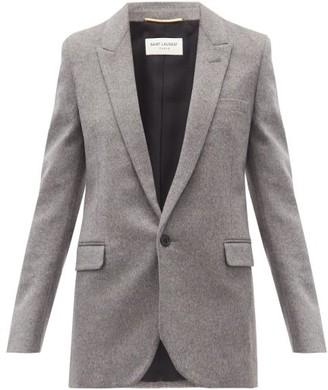 Saint Laurent Single-breasted Cashmere-blend Jacket - Grey
