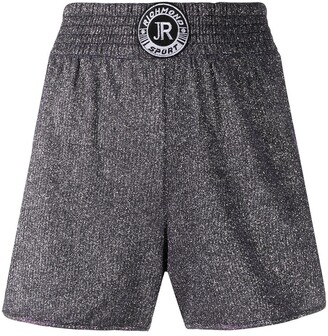 John Richmond Logo Patch Track Shorts
