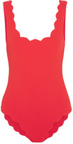 Marysia Swim Palm Springs Scalloped Swimsuit - Red