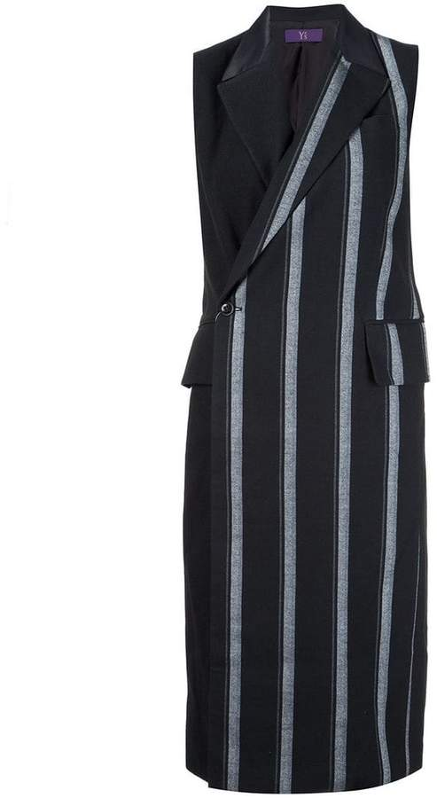 Y's long striped waistcoat