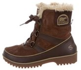 Sorel Leather-Accented Suede Snow Boots
