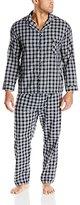 Hanes Men's Big Woven Plain Weave Pajama Set