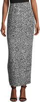 SOLACE London Printed Pleated Maxi Skirt