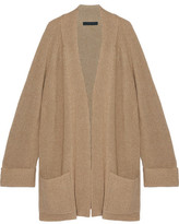 The Row Carissia Oversized Ribbed Cashmere And Silk-blend Cardigan - Camel