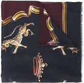 Dolce & Gabbana crowned wild cat print scarf - men - Modal/Cashmere - One Size